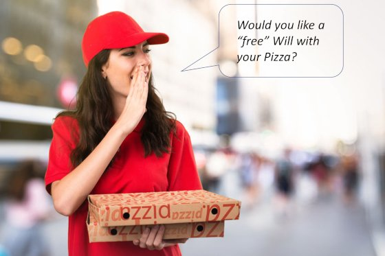 Would you like a free Will with your Pizza?