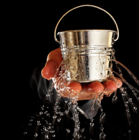 How big is the hole in your bucket?